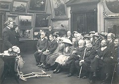 Lecture with skeleton