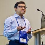 Ali Dewan presenting