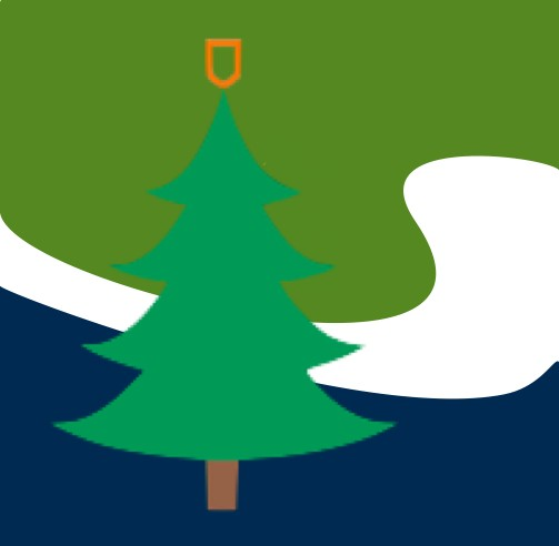 Landing logo with tree
