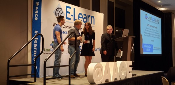 AU's Bob Heller and Mike Procter win top poster prize at E-Learn 2019
