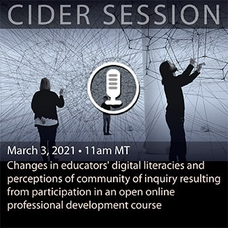 CIDER Session 3 March 2021 upcoming