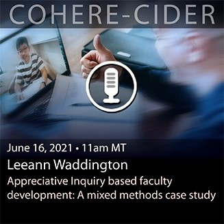 COHERE-CIDER Session 21 April 2021 upcoming