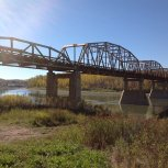sparkly Sept. 2012 autumn day in Athabasca
