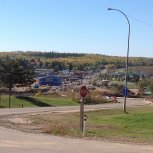 Sept. 2012 looking west to downtown Athabasca