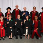 MEd graduates and faculty