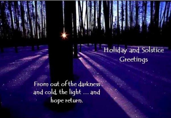 Winter Solstice Greetings