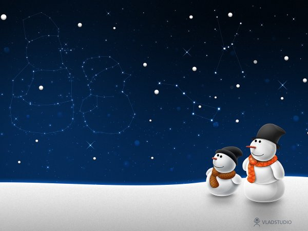 Snow men and stars
