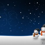 Snow men and stars