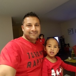 Reppin Toronto Raptors with my son