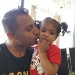 Reppin Toronto Raptors with my daughter