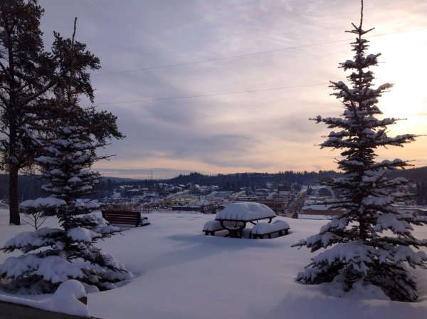 January 2, 2014 Looking from across the river at the Town of Athabasca