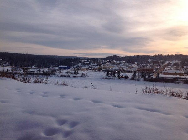 January 2, 2014 Across the river: Town of Athabasca