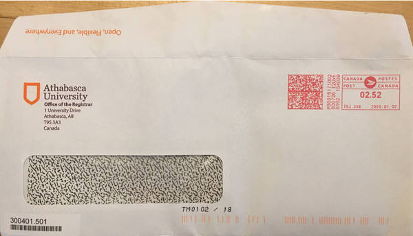 The Medium is the Message - Athabasca University Letter sent to online learner