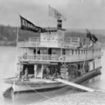 Steamer arriving at Athabasca Landing